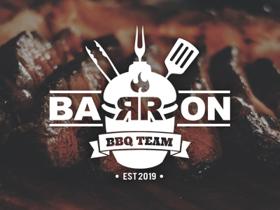 Vintage Barbecue Team Logo men bar meat logo event branding logodesign design team vintage logo vintage bbq barbecue
