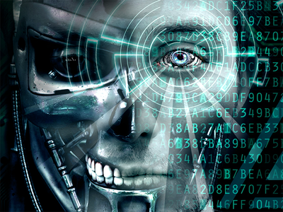 Looking ahead innovation dark future technology tech robotics human robot intelligence artificial artificial intelligence