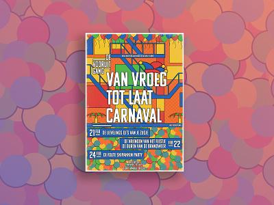 Carnaval bar confetti balloon lampegat eindhoven brabant holland netherlands event poster design photoshop illustration flyer design flyer poster party poster party carnival carnaval