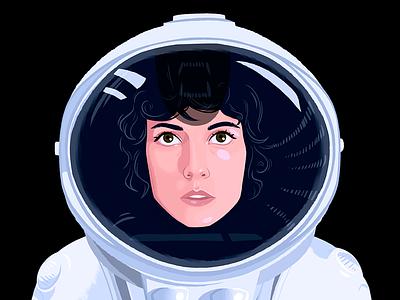 Ellen Ripley spacesuit creature woman ripley alien drawing digital art art illustration
