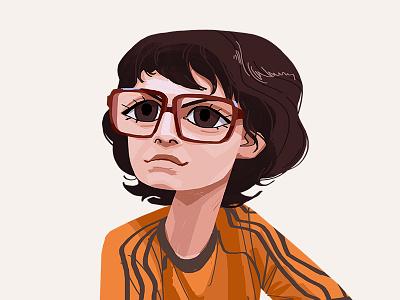 Richie Tozier face glasses it portrait boy character drawing digital art art illustration