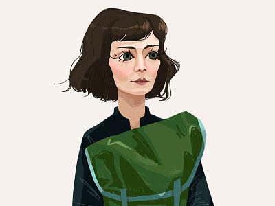 Jessica Hyde character photoshop short hair portrait face woman beautiful digital art illustration