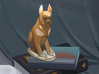 Dog statuette still-life study stilllife statuette dog digital art speedpaint illustration art