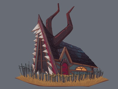 Hunter's hut concept design house hut concept digital art art illustration