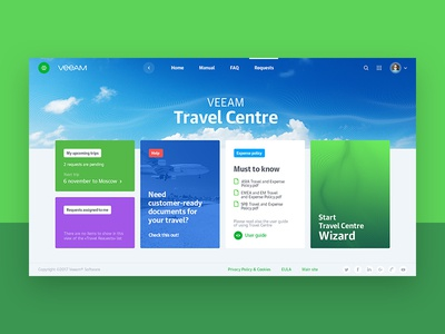 Veeam Corporate portal concept vol.2 webdesign webconcept web veeam uitrends ui kit-uix greendesign designinspiration creative corporate concept