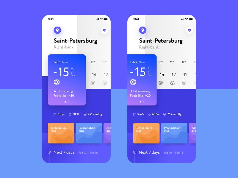 Weather App concept application concept weather ui