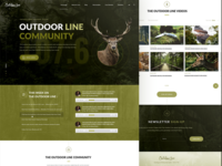 Homepage concept for Outdoor Line Radio