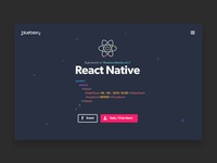 React Event - Landing page