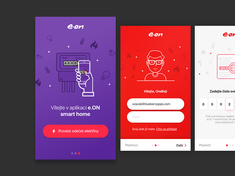 Onboarding cards design sketch energy home app ios onboarding