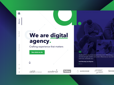 Agency ladning page ui ux design agency landing page