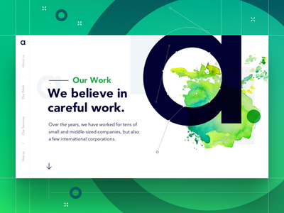Agency Our Work Landing page sketch our work ui ux design agency landing page