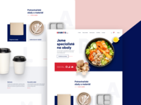Food Packaging Supplier landing page webdesign e-commerce landing page sketch concept visual design website web design microsite ux ui adobe xd site page landing