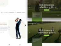 Golf Insurance Landing Page green adobe xd site e-commerce concept web sketch landing page design ux ui golf