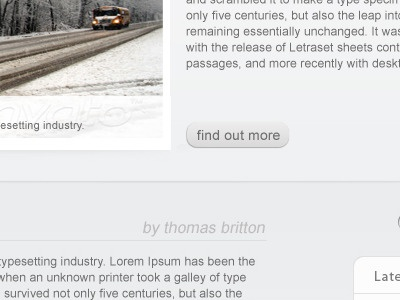 Preview of an upcoming wordpress template