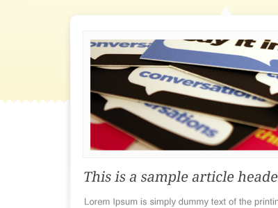 Featured post area image pattern type content header feature