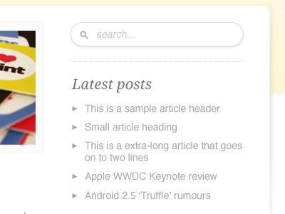 Sidebar sidebar icon search grey list