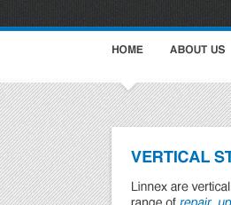 Re-design for new client pattern grey nav blue