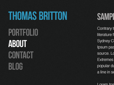 Possible new design for personal website