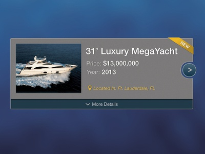 Yacht Sales Browse Card yacht design boat modern clean