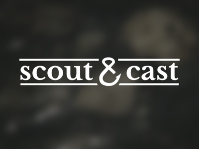 Scout & Cast logo hook fishing outdoors fly fishing