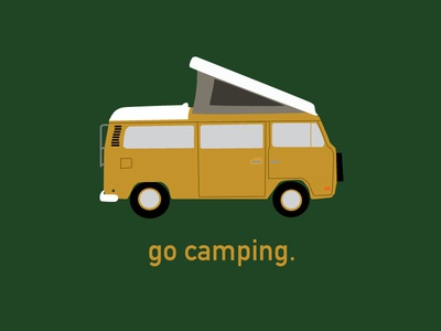 Go Camping westfalia westy camping vector free