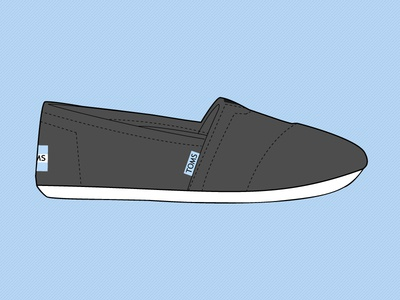 Vector Shoes toms shoes vector flat freebie design illustration cartoon