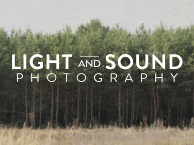 Light and Sound Logo logo photography modern clean