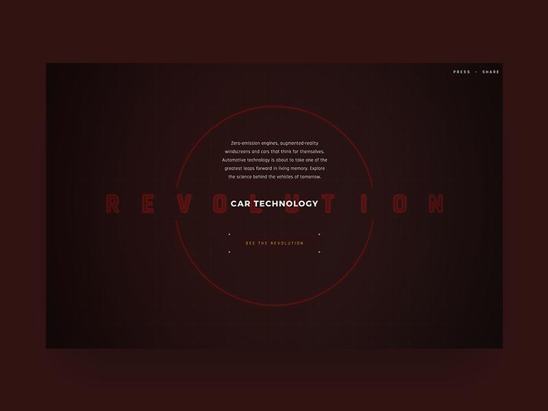 Car Technology Revolution  car technology tech line home ux ui minimal clean cyber neon logo future