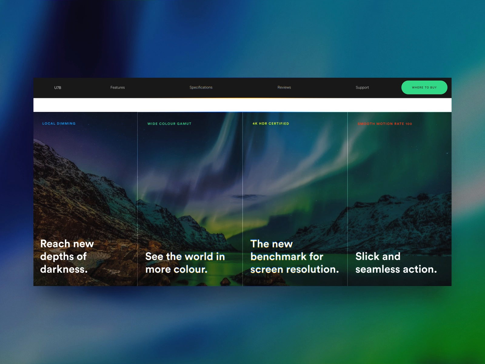 Hisense TV Carousel by Josh Couch for Grapple on Dribbble