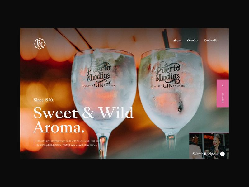 Puerto De Indias Gin Homepage Concept