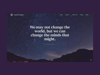 Carter Corson – Live Site!