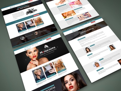 A simple website for a beauty salon. The project was ma
