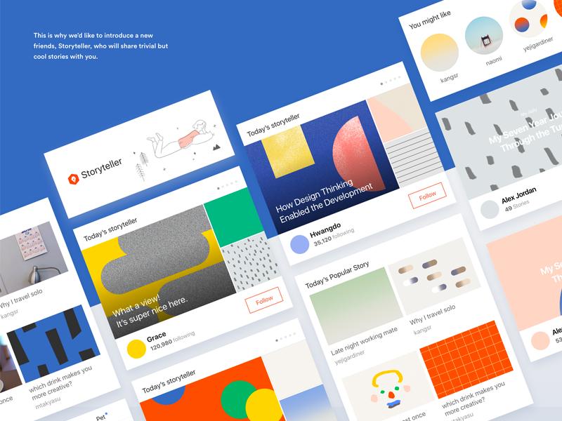Kakaostory App design - Story teller