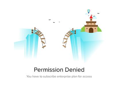 Permission Denied castle broken upgrade empty state no access access denied permission denied