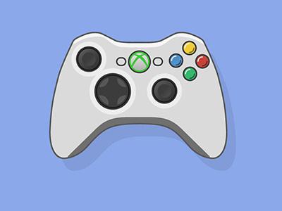 Xbox 360 Flat Controller illustrator vector play gta microsoft windows xbox happy fun game love