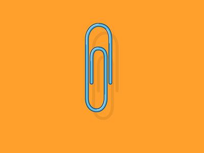 Staple daily design vector illustrator high light long shadow flat work office staple