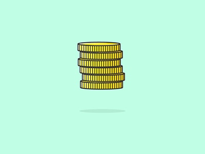 Coins modern gold illustration illustrator vector flat design flat design coins money