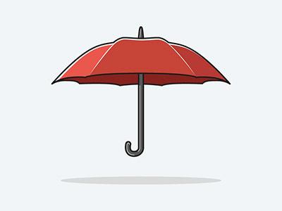 Umbrella fresh clean shadow rihanna vector illustrator flat modern water weather rain umbrella