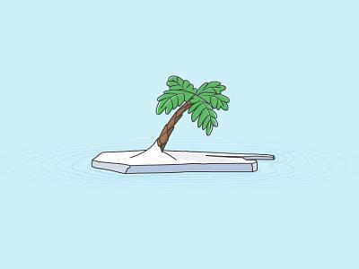 Result of global warming snow ice palm global warming modern flat illustrator vector target shadow clean fresh