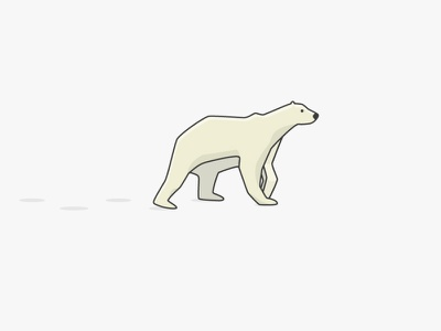 Polarbear fresh clean shadow target vector illustrator flat modern global warming palm ice snow