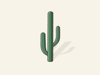 Cactus water dry modern flat illustrator vector needle desert plant cactus nature