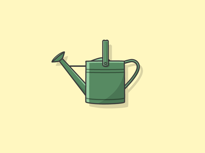 Watering can icon water vector plant needle nature modern illustrator flat dry desert plants