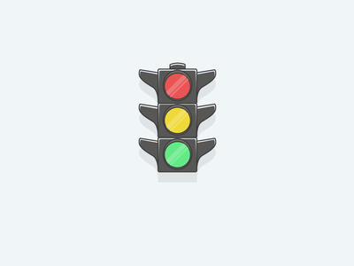 Traffic Lights icon ready go stop lights vector modern illustrator flat app ux traffic icon
