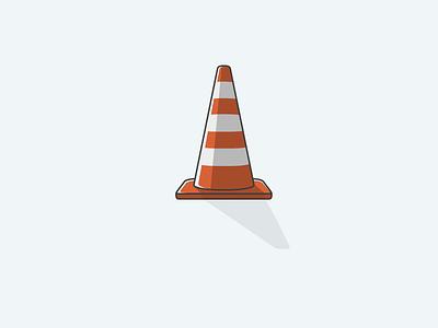 Traffic Cone icon ui apps construction roadwork cone illustrator ux icon traffic