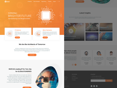 Landing Page landing page homepage ui shots artwork semi condenser new style