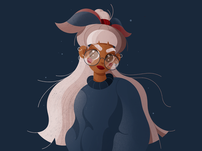 Girly Portrait color palette portrait illustration hairstyle sunglasses young girl drawing cartoon illustration cartoon character girly illustration procreate pastel character cartoon