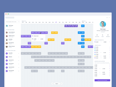 Team Management Dashboard request booking holiday product ux ui time dashboard management team calendar