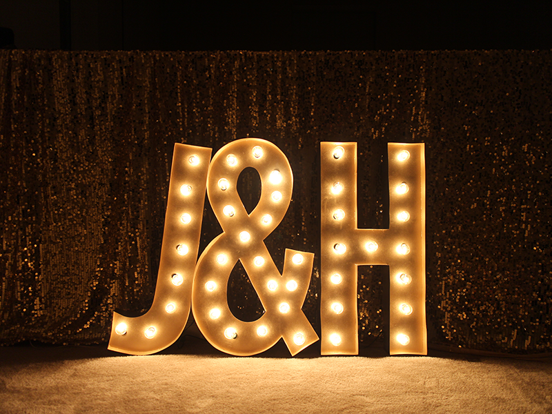 J&H DIY Marquee Lights wedding diywedding jandhsayido design jh type marquee lights diy illustrator