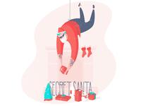 Secret Santa Post Card