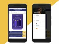 Mobile app / Menu